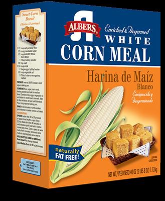 White Corn Meal carton